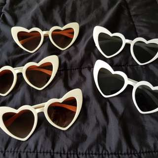Loulou Heart shaped sunnies