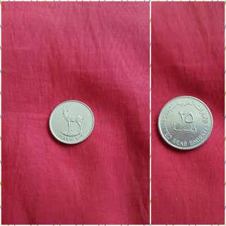 UAE 1989 25 Fils coin