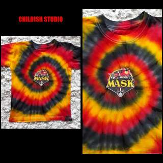 M.A.S.K Classic cartoon Tie Dye shirt for kids age 3 years old.