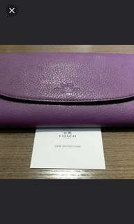 Coach purple wallet 8x4 inch...new