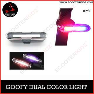 GOOFY USB Rechargeable Front Rear Bicycle Light Lithium Battery LED [ Dual Color ]