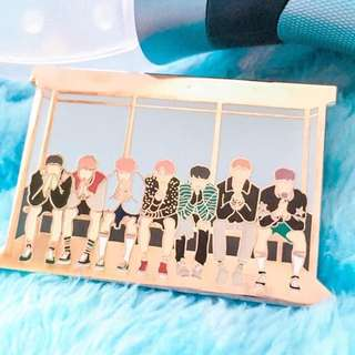 (LF/WTB) BTS YNWA BUS STOP ENAMEL PIN BY HAPPIPOP