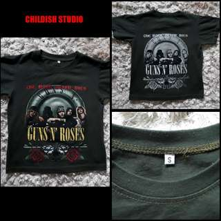 GUNS & ROSES (Band members) fan t-shirt for kids age 6 years old.