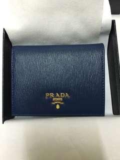 Prada Wallet 銀包 卡片套 深藍色