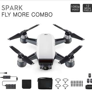 DJI Spark fly more combo with 3 battery