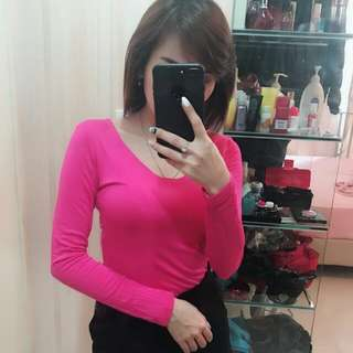 Atasan top pink