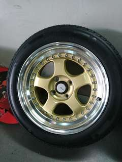 15 inch almost new advanti rims and tyres