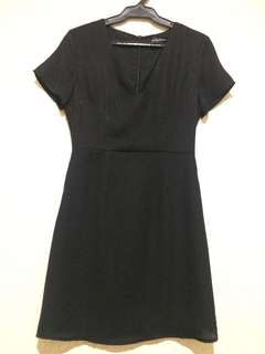 Something Borrowed V neck black dress