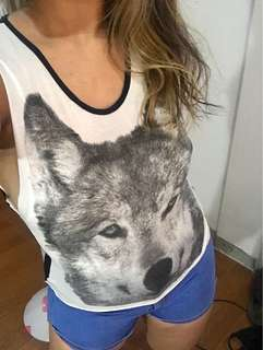 Wolf Print Top