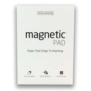 (A4 Pad / 50 sheets) MAGNETIC NOTES - Paper that Sticks on to Anything!