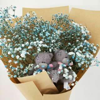 Baby Breath Bouquet with Me to You Bear