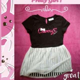 Girls' Pretty Dress Black White Tutu