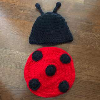 Lady bug knitted costume