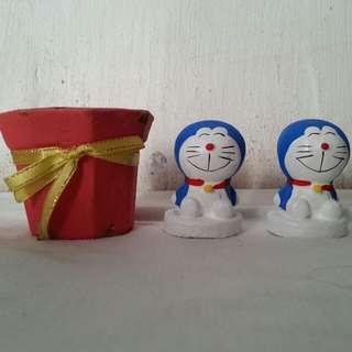 *Design & Crafts* Small Pot & Mini Doraemon Crafts