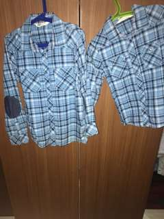 Checkered blue shirt