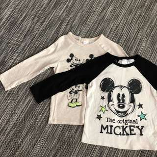 H&M Mickey Mouse Top