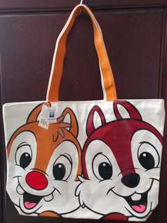 Hong Kong Disneyland - Chip & Dale Tote Bag #mayflashsale