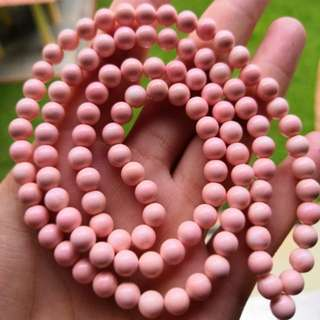 粉珊贝 Pink 6mm 108beads 顶级精选