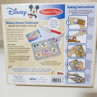 Melissa & Dough Mickey Mouse Clubhouse wooden slice & bake cookies set