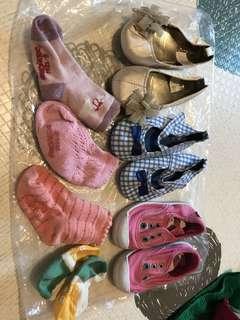1.5~3yrs h&m gap next shoes 3 pieces gap socksx4