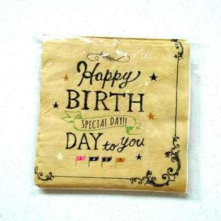 Happy birthday napkins / birthday napkins / party napkins
