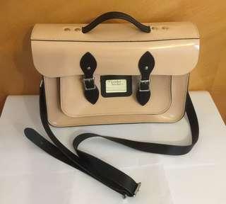 Leather Satchel 真皮袋祼色 (used item)