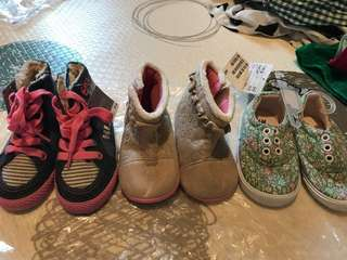 1.5~3yrs elle h&m next shoes sneaker boot 3 pieces
