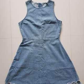 🚚 BN Scallop Hem Denim Dress #HariRaya35