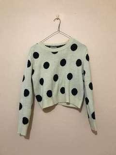 Cropped Polka Dot Sweater