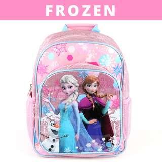 Disney School Bag for Primary School-Frozen (Design B-Pink)
