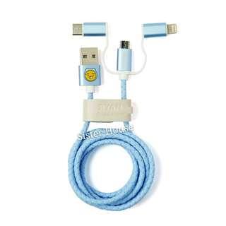 (包郵)🇰🇷Kakao Friends Hoodie Ryan Color 3in1 Cable 三合一充電線