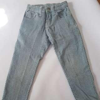 Kids Star Printed Denim Pants 4t