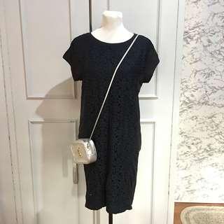 Midnight Blue  Midi dress M- Semi L