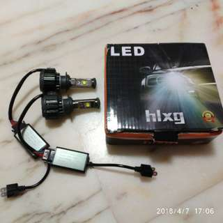HLXG Original 2PCS H7 LED Headlight Bulbs Conversion Kit