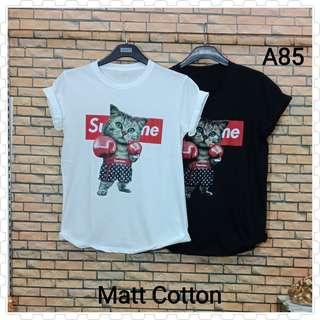 Kaos cewek murah Supreme Cats A85