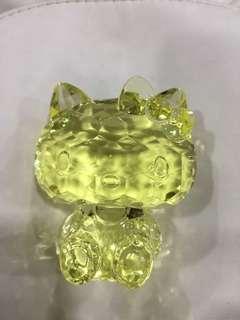 鑽石膠💎黃色Hello Kitty 水晶擺設