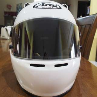 Arai GP-5W Racing Car Helmet (White/size:57-58cm) - Made in Japan