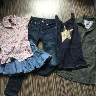 5pcs 8yo girl Quality clothes