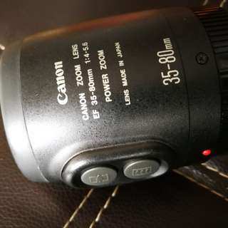 Canon lens EF 35-80mm Power zoom