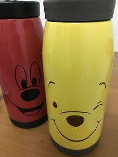 迪士尼保溫水瓶x2