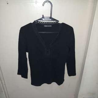 REPRICED! Bossini Ladies Black Blouse