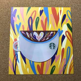Singapore Starbucks Valentine's Cup Shape Card 2018