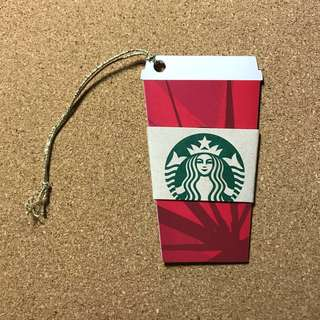 Hong Kong Starbucks Christmas Cup Shape Card