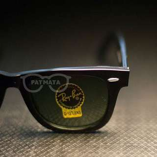 RAYBAN WAYFARER BLACK LENS G15 52