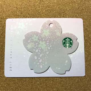Korea Starbucks Cherry Blossom Card 2017