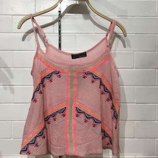 (BRAND NEW) Blush embroidered top