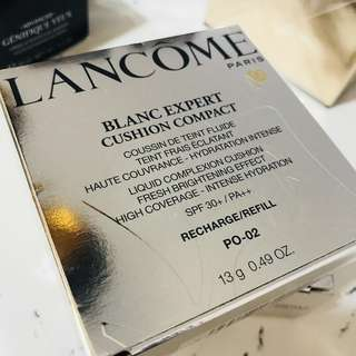 Lancome cushion refill Blanc Expert Cushion Compact High Coverage 瞬白無瑕氣墊粉底 粉芯