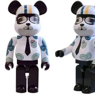 Paul and joe Bearbrick 400% Medicom toy 90% new