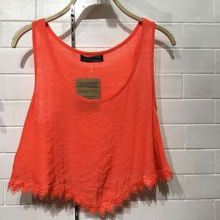 (BRAND NEW) Red orange top