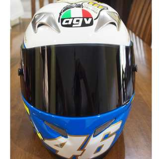 "Valentino Rossi Limited Mugello 2005 Edition AGV Ti-Tech VR46 ""IL LAUREATO"" Racing Helmet"
